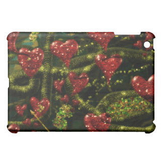 Love is Weird - Red Hearts on Strange Abstract iPad Mini Cover