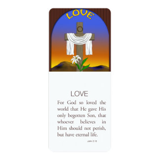 Love, John 3:16 10 Cm X 24 Cm Invitation Card
