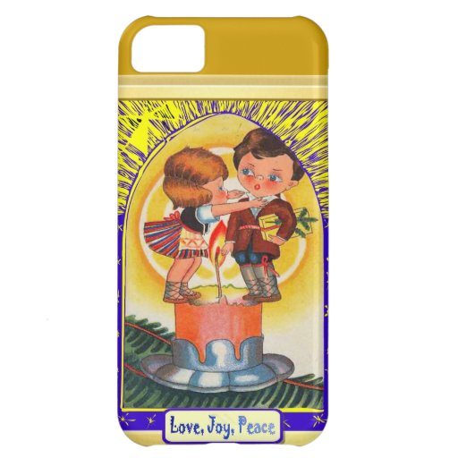Love, Joy, peace candle people Cover For iPhone 5C