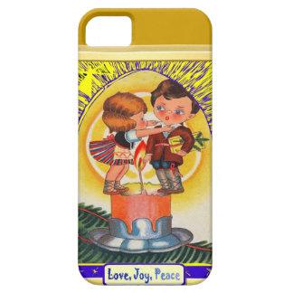 Love, Joy, peace candle people iPhone 5 Case