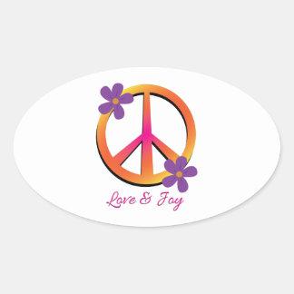 Love & Joy Oval Sticker