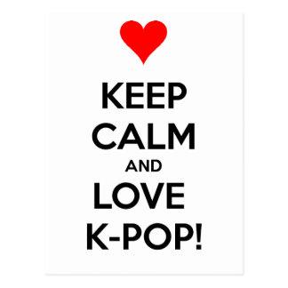 Love K-Pop! Postcard