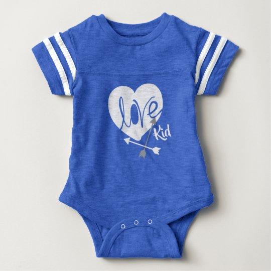 Love Kid Heart Arrows Funky Baby Bodysuit
