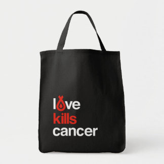 Love Kills Cancer - Grocery Tote Grocery Tote Bag