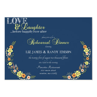 Love & Laughter Rehearsal Dinner Card