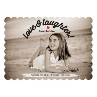 Love & Laughter with Back Photo Card