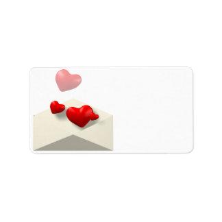Love Letter Address Label
