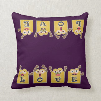 LOVE Letters in Cartoon Boxes Cushion