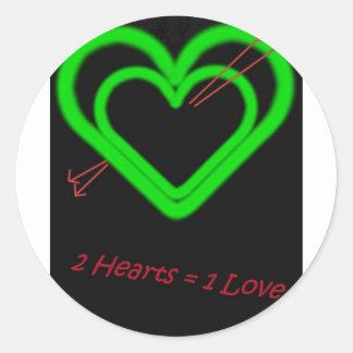 Love -Liebe Classic Round Sticker