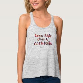Love life, drink cocktails singlet