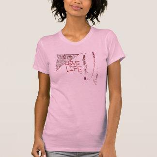 Love Life Graffiti Ladies Twofer Sheer T-Shirt