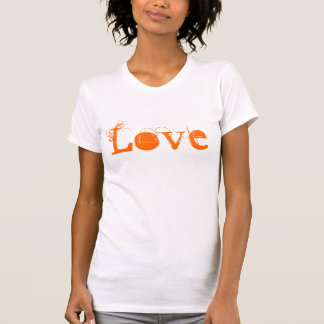 Love Life In Vintage White Orange And Red Tshirts