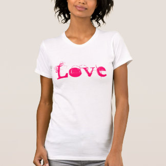 Love Life In Vintage White Pink And Red Tees