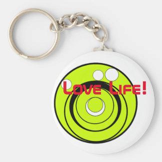 Love life! key-ring basic round button key ring