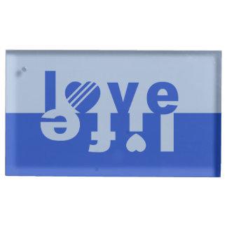 Love / Life table card holder