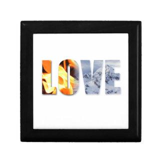 Love Like Fire snow Wooden Jewelry Keepsake Box