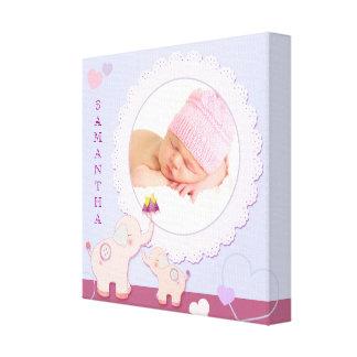 Love Love Elephant Baby Photo Gift Canvas Print