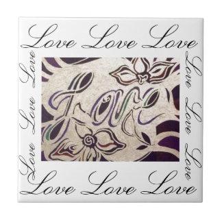 Love Love Love Small Square Tile