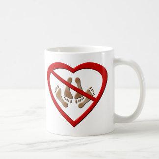 Love making feet not allowed basic white mug