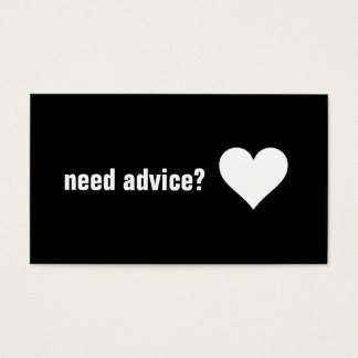Love Marriage Advice Consultant Specialist Business Card