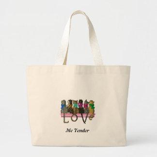 Love Me Tender Tote Bags