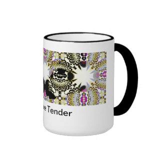 Love me tender - zebra coffee goblets - gold ringer mug