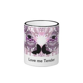 Love me tender - zebra ringer mug
