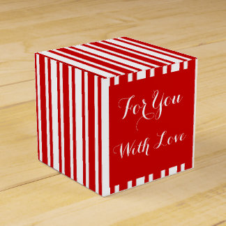 Love message red white weddings favour box