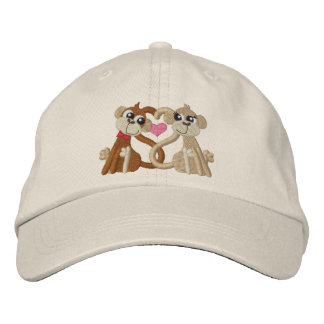 Love Monkeys Embroidered Cap