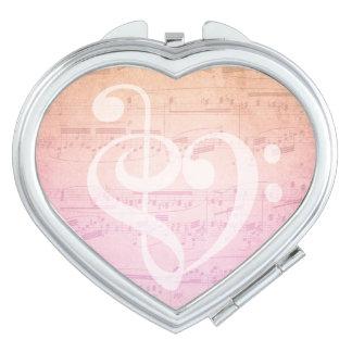 Love Music Compact Mirror