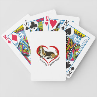 LOVE MY BASSET HOUND BICYCLE PLAYING CARDS