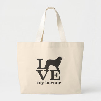 Love my Bernese Mountain Dog Large Tote Bag