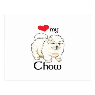 LOVE MY CHOW POSTCARD