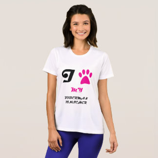 Love My Doberman Pinscher Paw T-Shirt