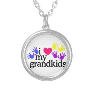 Love My Grandkids Round Pendant Necklace