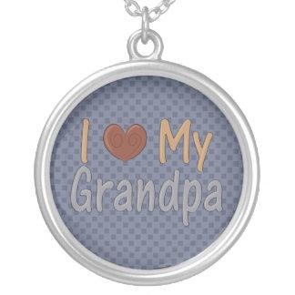Love my Grandpa Sterling Silver Necklace