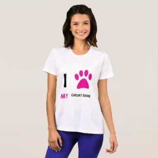 Love My Great Dane Paw T-Shirt