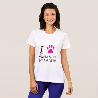 Love My Miniature Schnauzer Paw T-Shirt