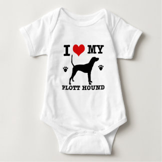 Love my plott hound baby bodysuit