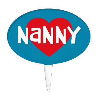 Love NANNY Cake Toppers