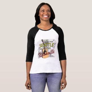 Love Nashville from Seattle Raglan T-Shirt