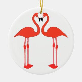 Love of flamingos christmas ornament