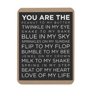"""Love Of My Life 3""""x4"""" Photo Magnet"""