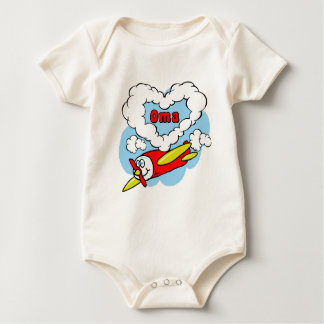 Love Oma Kids Airplane Baby Bodysuit