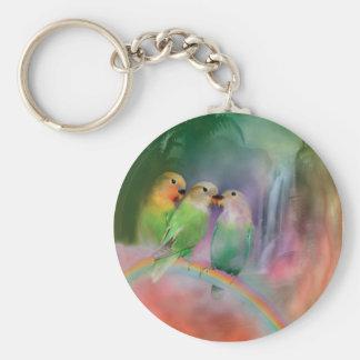 Love On A Rainbow Art Keychain