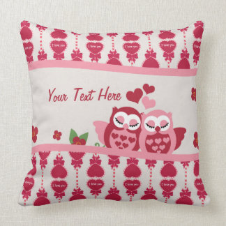 Love Owl Couple Throw Pillow
