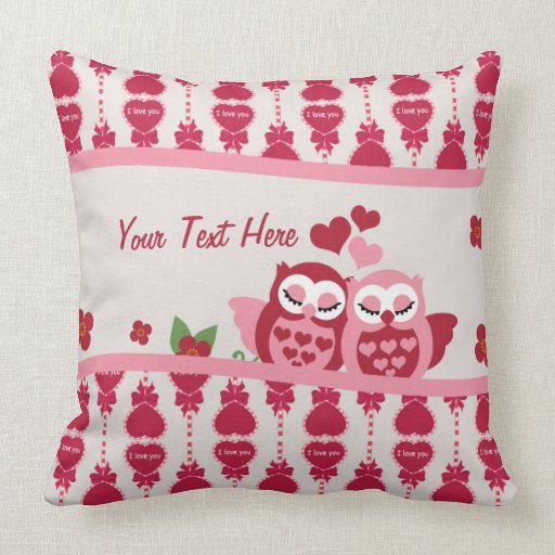 Love Owl Couple Throw Pillow