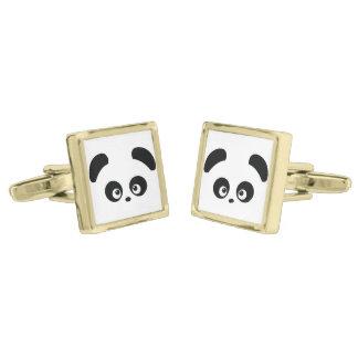 Love Panda® Gold Finish Cuff Links