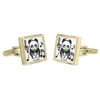 Love Panda® Gold Finish Cufflinks