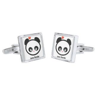 Love Panda® Silver Finish Cuff Links